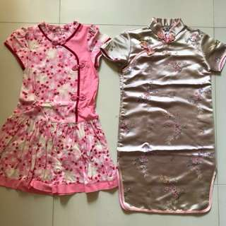 CNY dresses for 6-7 year olds