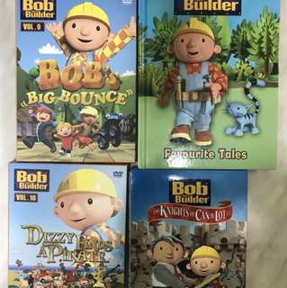 Bob the builder 3 DVDs and 1 book