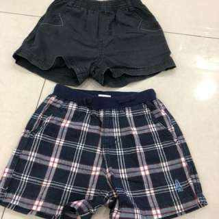 2pcs Short Pants (12-18 mths)