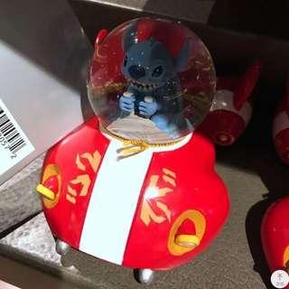 上海迪士尼代購 史迪仔 stitch 水晶球擺設