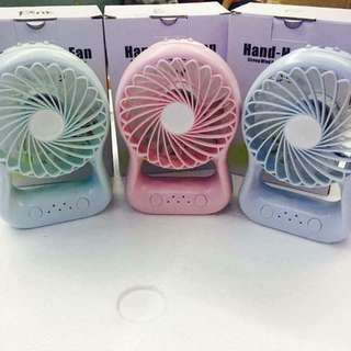 Mini Fan with LED & Powerbank with Free Battery