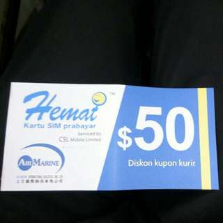 Hemat Air Marine Indonesia Courier $50*4 Coupon