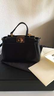 Authentic Fendi Black Micro Peekaboo