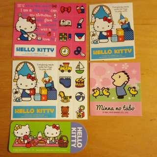 Hello Kitty + Minna no tabo 大口仔貼紙Sticker