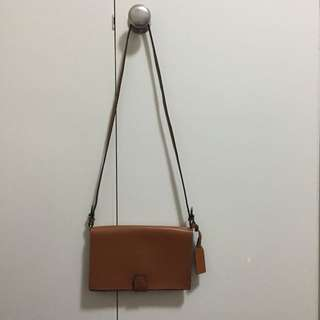 🍔 Zara Vintage Leather Envelope Bag