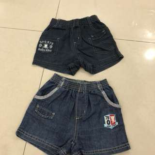 2pcs Baby Kiko Short Pants (L) ( 1-2years)