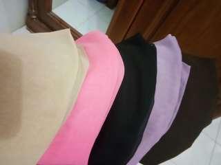 #cintadiskon (5 in 1)paket 5 jilbab segi4 polos
