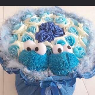 Cookie monster bouquet