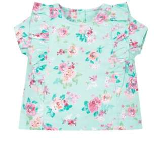 Brand New Mothercare Floral Frill Blouse Size 4 years