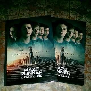 Maze Runner Movie Notebook A5 SIZE