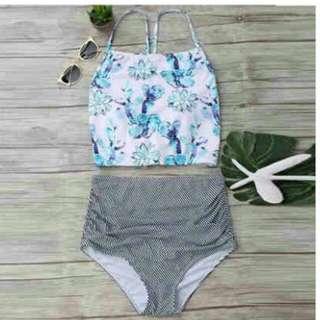 JONA Blue Flower 2PIECE Swimsuit
