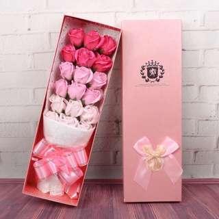 18朵香皂玫瑰花