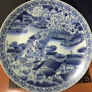China Blue And White Plate