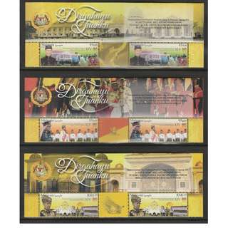 Malaysia 2016 Reign of the 14th Yang Di Pertuan Agong 2 sets of 3V Mint MNH SG #2187-2189