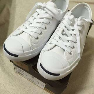 Converse 開口笑 皮的jack Purcell leather
