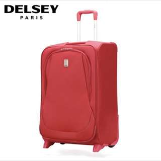 DELSEY cabin luggage, red - brand new