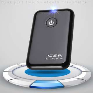 Wireless Bluetooth Music Transmitter - Support Two Audio Sources 藍芽音樂發射器 音頻雙輸入自由切換 S06225