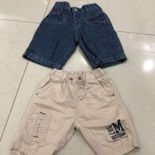 2pcs Boy Short Pants (2-3years)