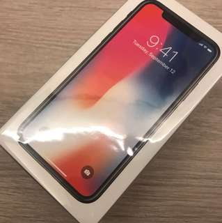 100% New iPhone X Space Gray 256gb