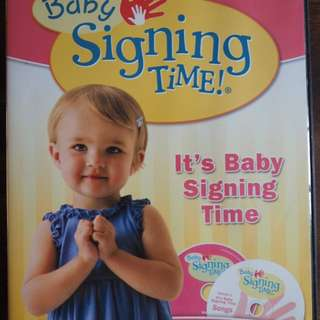 Baby Signing Time DVD vol 1 and 2