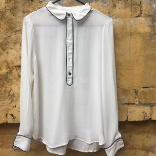 White sheer shirt from Urban Outfitters