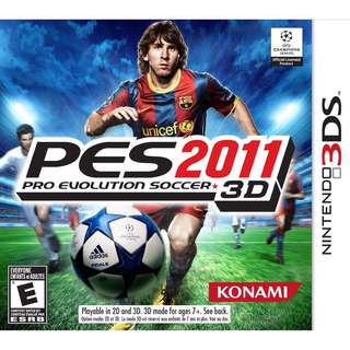 PES2011 3D For Nintendo 3DS