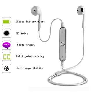 S6 Bluetooth Headset/earphone (high quality)