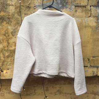 Cream textured jumper size small