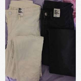 H&M White High Waisted Jeans