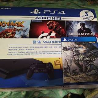 Ps4 bundle with Monster Hunter World