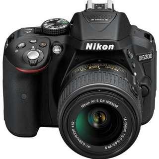 Kredit Dp 10% Nikon D5300 KIT AFP 18-55mm - Cicilan tanpa kartu kredit
