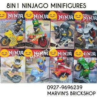 For Sale NINJAGO with Motorbike 8in1 Minifigures