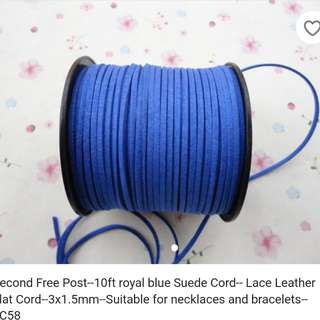 real suede cord Royal blue