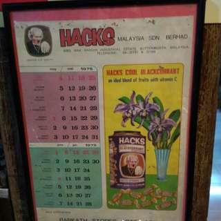 Kalendar HACKS 1975