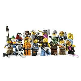 全新Lego 8804 Minifigures series 4 (一套16隻)