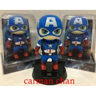 CAPTAIN AMERICAN CARTOON SOLAR POWERED DANCING FLIP FLAP FOR HOME CAR TOY