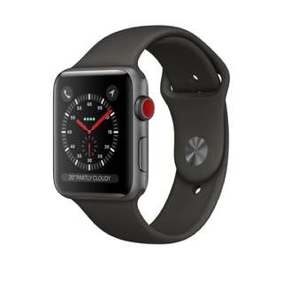 Apple Watch Series 3 (no cellular) 42mm Space Grey Aluminum case with Grey Sport Band