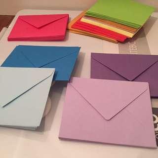 Mini envelopes cute colourful