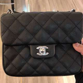 Pre order - chanel 17cm square mini, calf skin