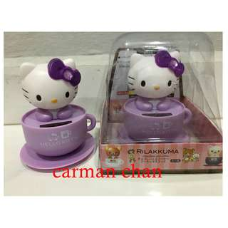 HELLO KITTY CARTOON SOLAR POWERED DANCING FLIP FLAP FOR HOME CAR TOY