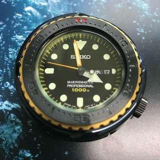 Rotate bezel for1000mQuartz TUNACAN SBBN011 SBBN013 SBBN025 SBBN027 SBBN029 SSBS 精工 石英 吞拿 Seiko 錶圈