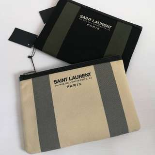 Saint Laurent Canvas Clutch