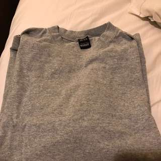 Bonds High Neck Baggy T-shirt (grey) Uni-sex