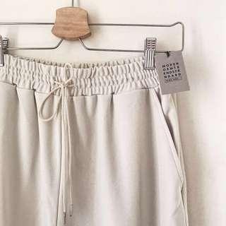 NICO AND 束腳褲 jogger pants | 米白色文青款