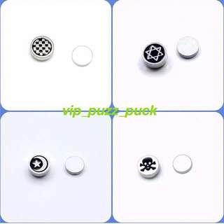 鈦鋼磁石耳環