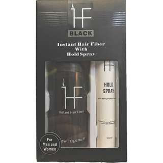INSTANT HAIR FIBERS WITH LOCK SPRAY