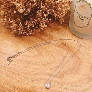 Links of London Heart Shape necklace (silver) with diamonds!!