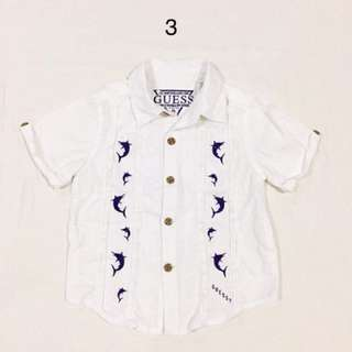 Guess White Polo for Boys