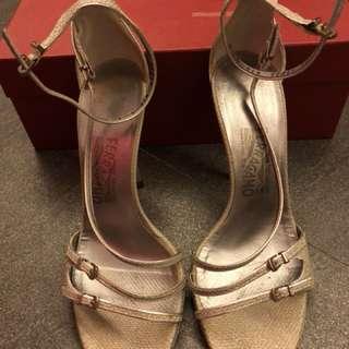 Ferragamo Shoes - Silver, size 9C