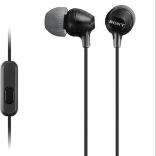 SONY MDR-EX15AP stereo Headphones (Black)